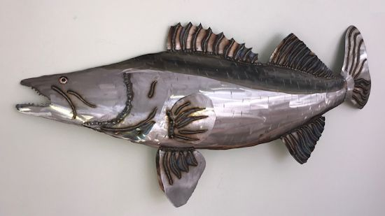 Walleye metal sculpture - wall art, 38